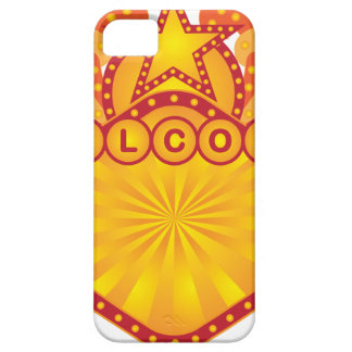 Retro Marquee Welcome Sign Illustration iPhone 5 Cover