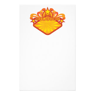 Retro Marquee Welcome Sign Illustration Stationery