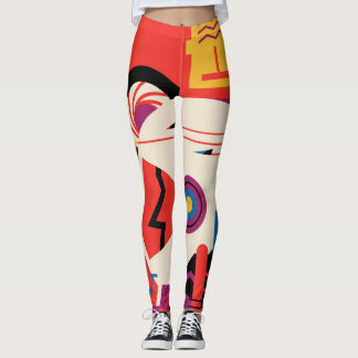 Retro Mars Historic Site vacation poster Leggings