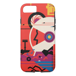 Retro Mars Historic Sites vacation poster iPhone 8/7 Case