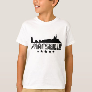 Retro Marseille Skyline T-Shirt