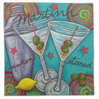 Retro Martini American MoJo Cocktail Napkin Set