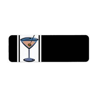 Retro Martini Cocktail Address Labels