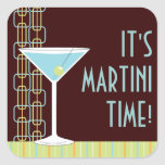 Retro Martini Cocktail Sticker