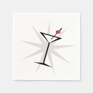 Retro Martini Disposable Napkin