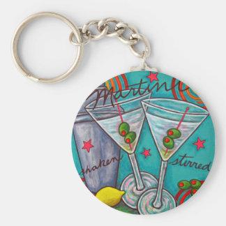 Retro Martini Key Chain