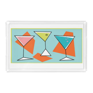 retro Martini Tray