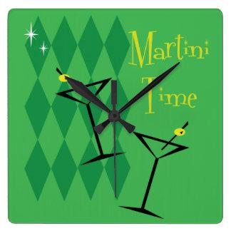 Retro Martini Wall Clock