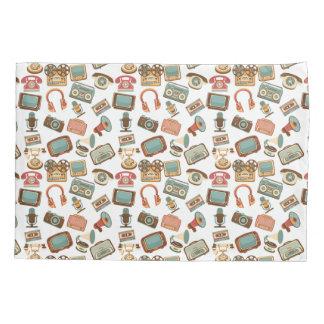 Retro Media Pattern pillowcases