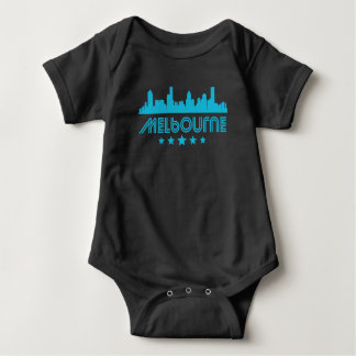 Retro Melbourne Skyline Baby Bodysuit