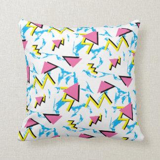 Retro Memphis Inspired Pattern Pillow