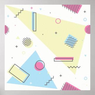 Retro Memphis Pattern Design Poster