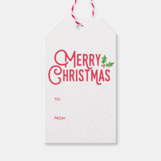 Retro Merry Christmas Gift Tags Pack Of Gift Tags