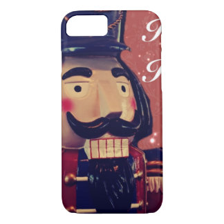Retro Merry Christmas Holiday Vintage Nutcracker iPhone 8/7 Case