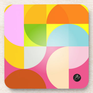 Retro merry multicolored colors trend hygge coaster