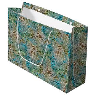 Retro Metal Flowers Large Gift Bag