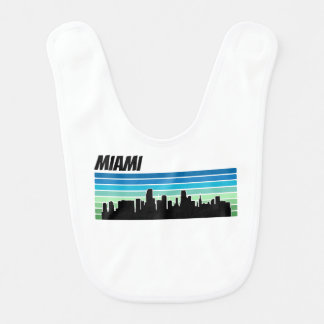 Retro Miami Skyline Bib