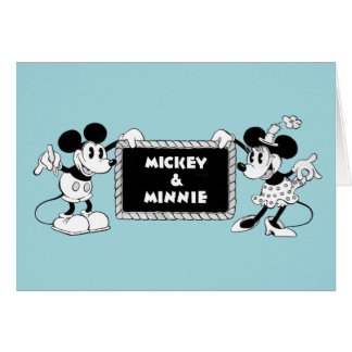 Retro Mickey & Minnie Card