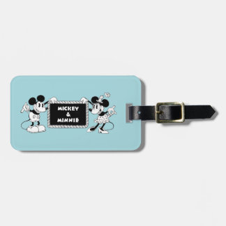 Retro Mickey & Minnie Luggage Tag
