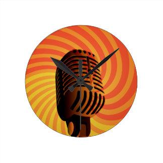 Retro Microphone custom wall clock