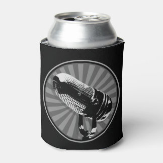 Retro Microphone Graphic Can Cooler
