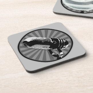 Retro Microphone Graphic Drink Coasters