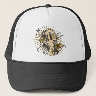 Retro Microphone Trucker Hat