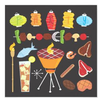 Retro Mid-Century Barbecue Party Invitation