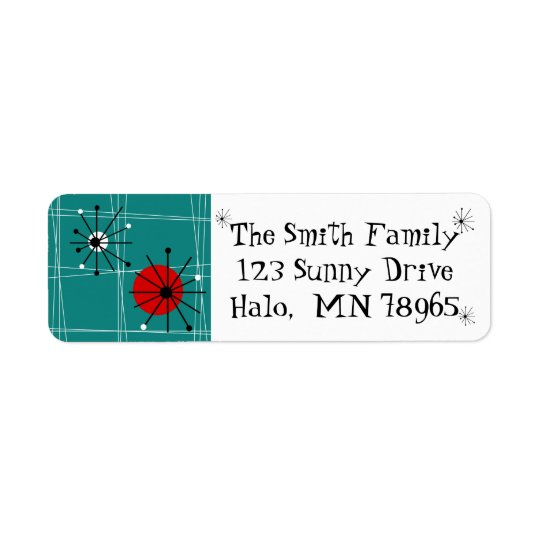 Retro Mid Century Modern Address Labels