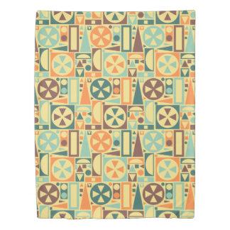 Retro Mid-Century Modern Geometric 1950s Cool Duvet Cover