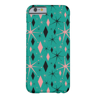Retro Mid Century Starburst and Diamonds Barely There iPhone 6 Case