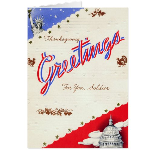 Retro Military Thanksgiving Card