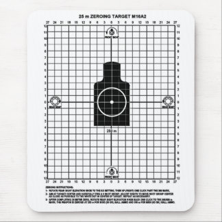 Retro Military Weapons  M-16 Shooting Target Mouse Pad
