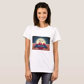 Retro Milwaukee Wisconsin Skyline T-Shirt