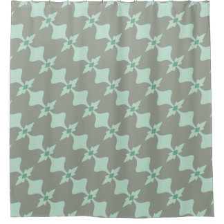 Retro Mint and Grey Pattern