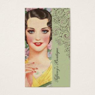 Retro Mint green great gatsby Parisian fashionista Business Card