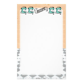 Retro mint stand mixer recipe card stationery