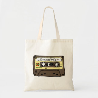 Retro Mixtape Budget Tote Bag
