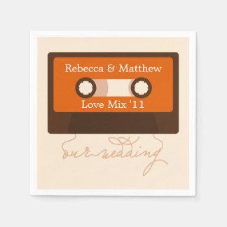 Retro Mixtape Wedding Disposable Napkin