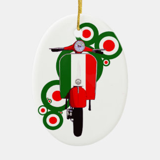 Retro Mod  Art Italian Scooter Ceramic Ornament