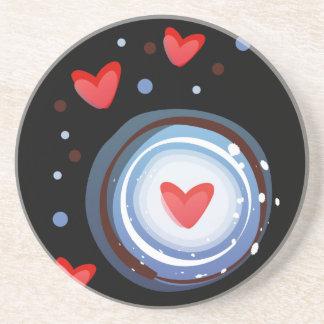 Retro Mod Love Circle Coaster