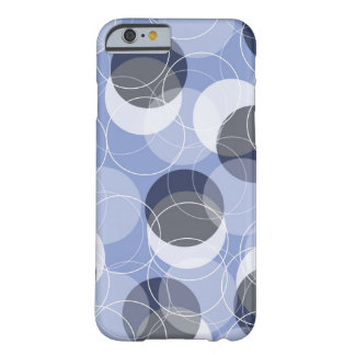 Retro Mod Rings Blue Pattern Art iPhone CaseMate Barely There iPhone 6 Case