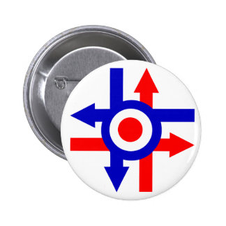 Retro Mod target and Arrows design 2 Inch Round Button