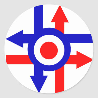 Retro Mod target and Arrows design Round Sticker