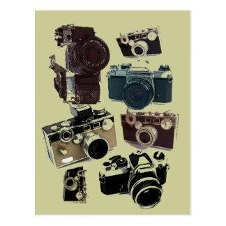 Rétro mode grunge vintage d'appareils-photo cartes postales