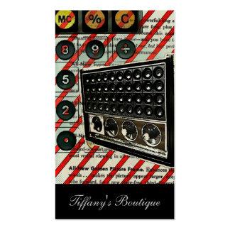 rétro mode par radio vintage de l'électronique carte de visite standard