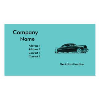 rétro modèle de carte de visite d'automobile de le