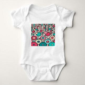 Retro Modern Circles Baby Bodysuit