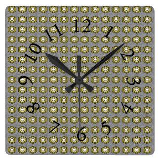 Retro-Modern-Classic_Gray-Olive_Stylish-Clocks Square Wall Clock