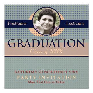 Retro Modern Graduation w/ Photo Invitation